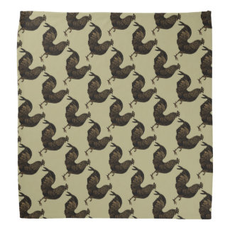Rustic Rooster Chinese New Year 2017 Bandana