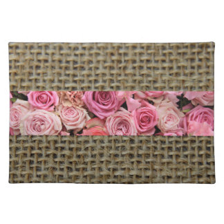 Rustic Roses on Burlap Placemat