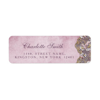 Rustic Royal Personalized Gold Lace Address Labels