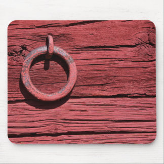 Rustic Rural Red Wooden Barn Mouse Mat