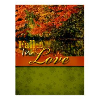Rustic Rustic Fall In Love Wedding Postcard