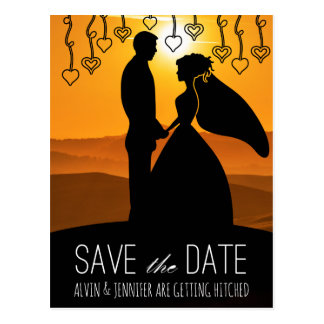 Rustic Save the Date Sunset Tuscany Italy Postcard