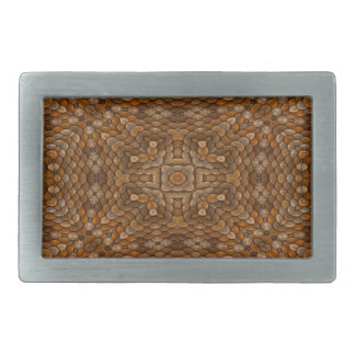 Rustic Scales Colorful Belt Buckle