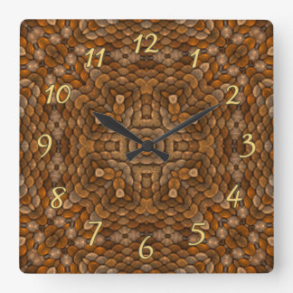 Rustic Scales Colorful Wall Clocks