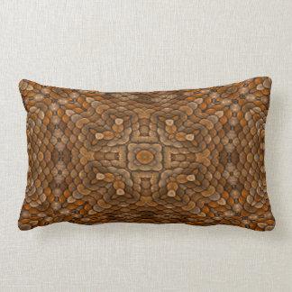 Rustic Scales Kaleidoscope Pattern Lumbar Pillows