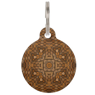 Rustic Scales  Vintage Kaleidoscope Dog Cat Tags