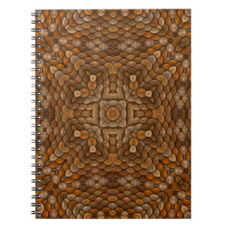 Rustic Scales Vintage Kaleidoscope Notebook
