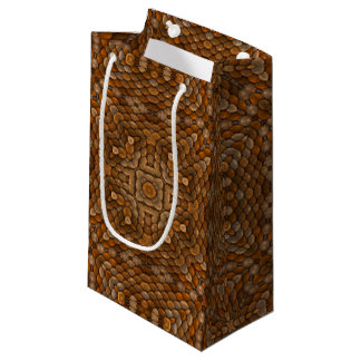 Rustic Scales Vintage Kaleidoscope  Small Gift Bag