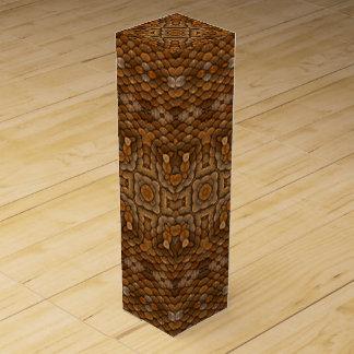 Rustic Scales Vintage Kaleidoscope Wine Gift Box
