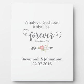 Rustic Scripture Christian Art Wedding Gift Plaque