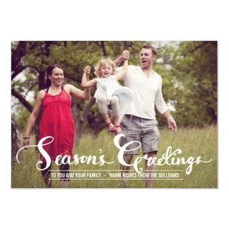 Rustic Season's Greetings | Holiday Photo Card