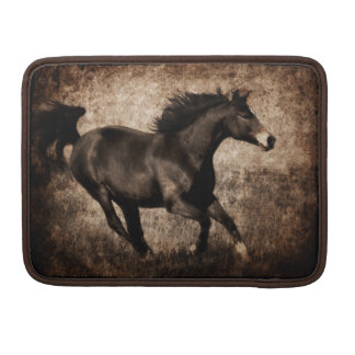 Rustic Sepia Galloping Horse Sleeve For MacBook Pro