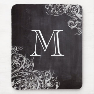 rustic shabby chic vintage Chalkboard monograms Mouse Pads