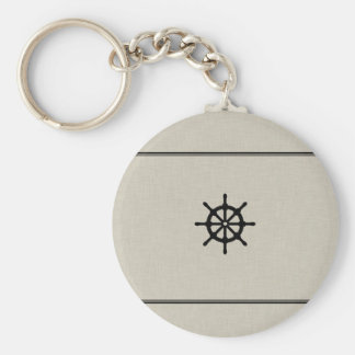 Rustic Ship Wheel Keychain