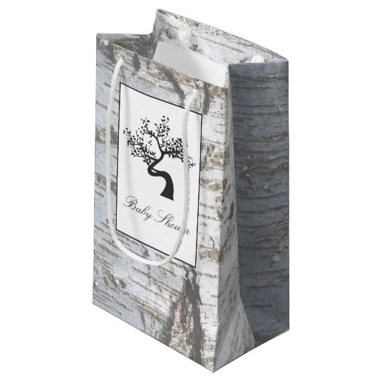 Rustic Silver Birch Tree Baby Shower Small Gift