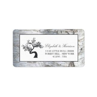 Silver birch wedding