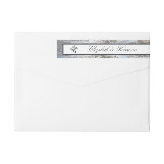 Rustic Silver Birch Tree Wedding Wrap Around Label