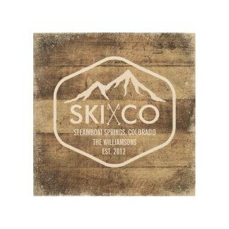 Rustic Ski Mountain Steamboat Springs Colorado Wood Print