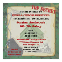 12th birthday invitations announcements zazzle rustic sleepover party invitation filmwisefo Image collections