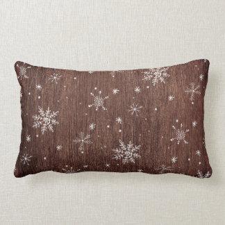 Rustic Snowflake Christmas Lumbar Cushion