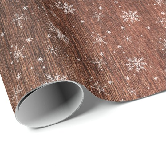 Rustic Snowflake Christmas Wrapping Paper