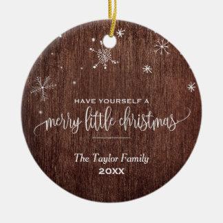 Rustic Snowflake Holiday Christmas Ornament