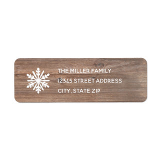 Rustic Snowflake - Return Address Label