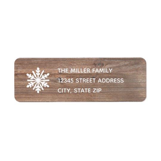 Rustic Snowflake - Return Address Label