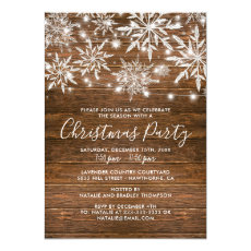 Rustic Snowflakes Business Company Christmas Party