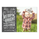 Rustic Snowflakes Holiday Photo Card Announcements