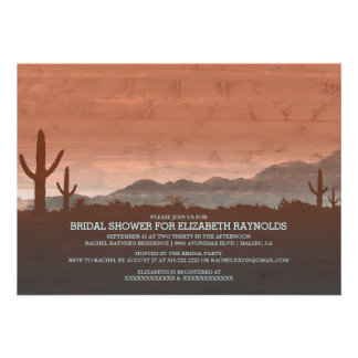 Rustic Southwestern Bridal Shower Invitations Cards