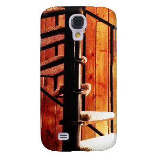 Rustic Spiral Staircase at Cabin Samsung Galaxy S4 Case