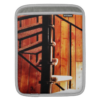 Rustic Spiral Staircase at Cabin iPad Sleeve
