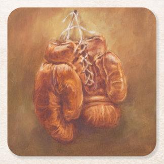 Rustic Sports | Boxing Glove Square Paper Coaster