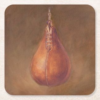 Rustic Sports | Boxing Square Paper Coaster