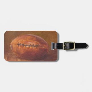 Rustic Sports | Football Luggage Tag
