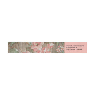Rustic Spring Blossoms Wedding Return Address Wrap Around Label