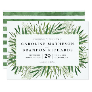 Rustic Spring Wedding Invitations