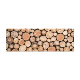 Rustic Stacked Wood Pile. Canvas Print