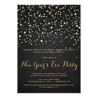 RUSTIC STAR CONFETTI NEW YEAR'S EVE INVITATION
