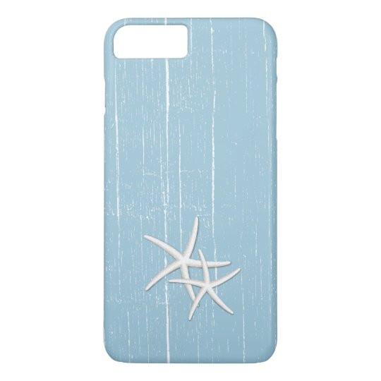 Rustic Starfish Mint Blue Beach Theme iPhone 8