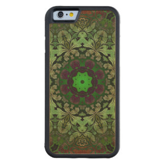 rustic steam punk green damask pattern maple iPhone 6 bumper case
