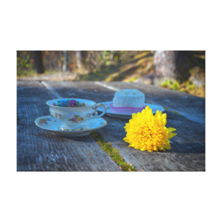 Rustic Still Life with Teacup Canvas Print