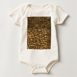 Rustic Stone Wall Baby Bodysuit