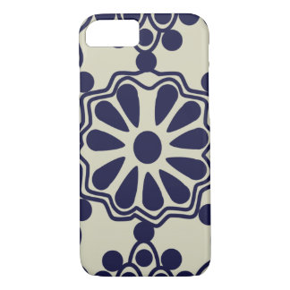 Rustic Stylish Mexican Tile Pattern Blue White iPhone 7 Case
