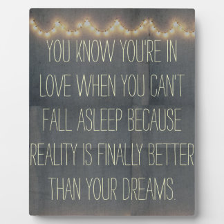 Rustic Summer Fairy Lights Inspirational Love Plaque
