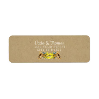 Rustic Sunflower Address Labels