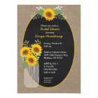 Rustic Sunflower bridal shower / baby shower Card