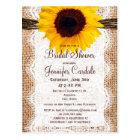 Rustic Sunflower Bridal Shower Invitation Postcard
