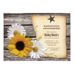 Rustic Sunflower Daisy Sweet 16 Birthday Invitation